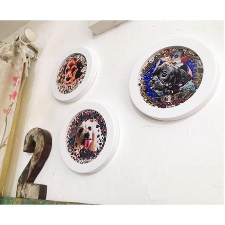 Roundcollage【カスタムオーダー】 No.0005「赤い花々」
