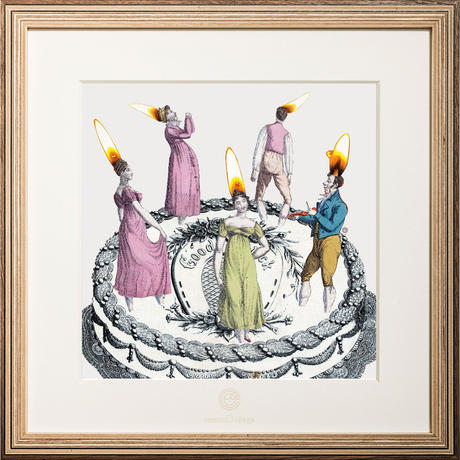 No.0057「Five candles」5本のロウソク wood flame