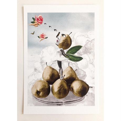 ポストカード 「洋梨娘の偉大なる冒険」