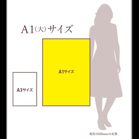 肖像コラージュ 【大  A1サイズ/通常額】(オーダー制)