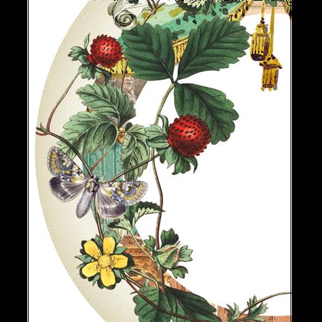Roundcollage【カスタムオーダー】 No.0001「野いちごを摘みに」