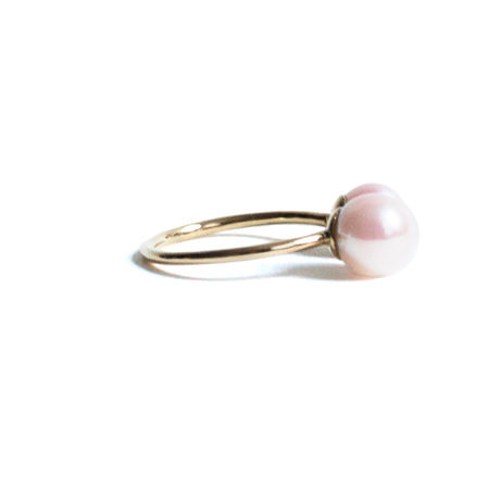 Pearl Double Head Ring Asymmetry (L)