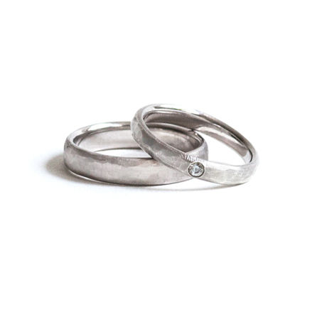 Marriage Texture Ring For Men K18WG (#20, #22)