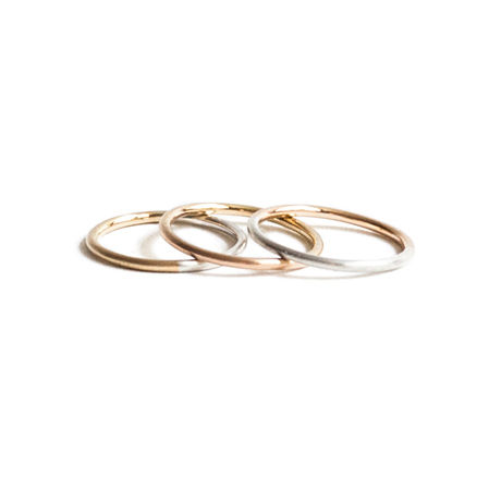 Double Color Gold Ring 1.2mm (#3)