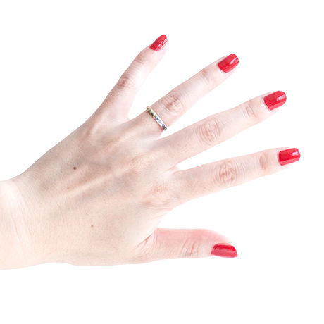 Double Color Texture Ring (#7, #9)