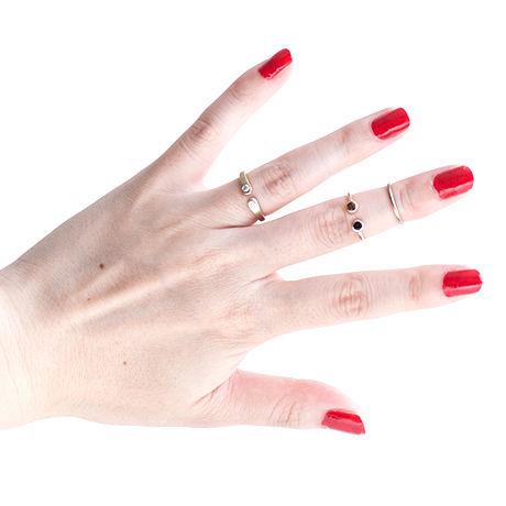 Wrap Ring 2 Diamond Ring For Women K18YG (#7, #9)