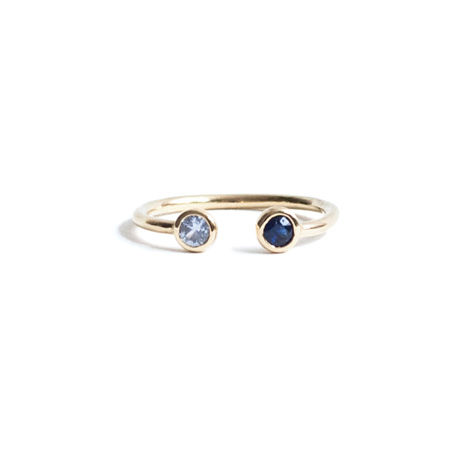 Sapphire Double Head Ring (L)