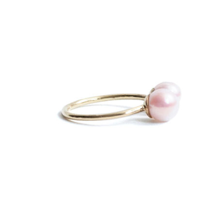 Pearl Double Head Ring  Symmetry (L)