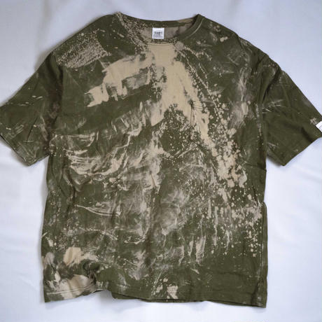 """TEN""タイダイWIDE Tシャツ <039> Olive *ポケット付  size:  L"