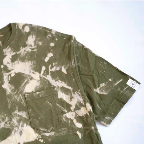 """TEN""タイダイWIDE Tシャツ <041> Olive *ポケット付  size:  L"