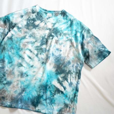 """TEN""タイダイWIDE Tシャツ <012> *ポケット付  size:  L"