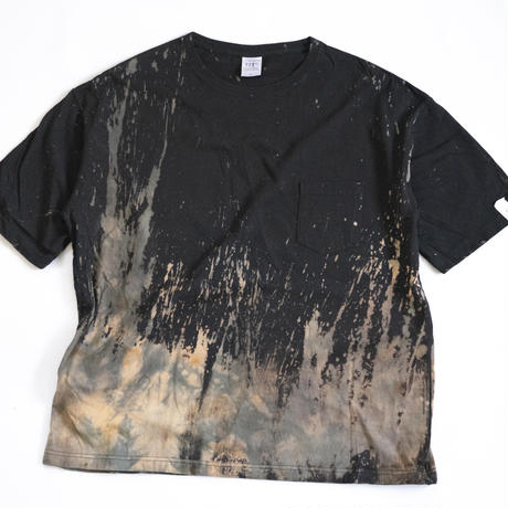 """TEN""タイダイWIDE Tシャツ <035> BLACK *ポケット付  size:  L"