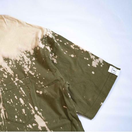 """TEN""タイダイWIDE Tシャツ <042> Olive *ポケット付  size:  XL"
