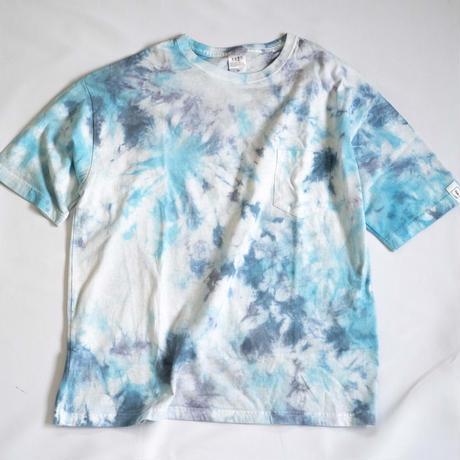 """TEN""タイダイWIDE Tシャツ <015> *ポケット付  size:  M"