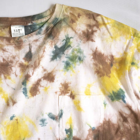 """TEN""タイダイWIDE Tシャツ <017> *ポケット付  size:  M"