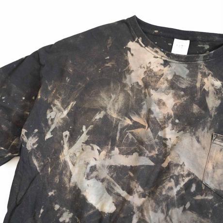 """TEN""タイダイWIDE Tシャツ <036> BLACK *ポケット付  size:  L"