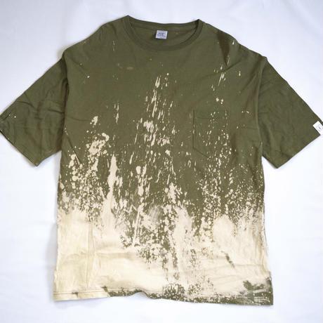"""TEN""タイダイWIDE Tシャツ <043> Olive *ポケット付  size:  XL"
