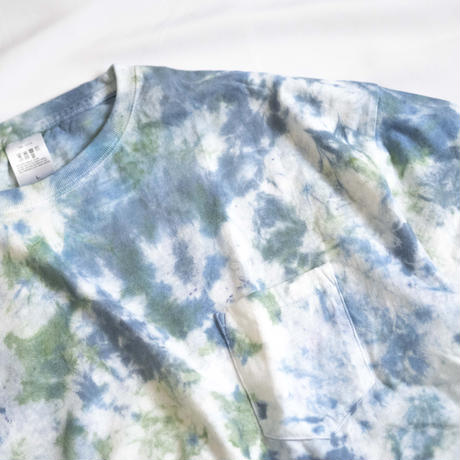 """TEN""タイダイWIDE Tシャツ <020> *ポケット付  size:  L"