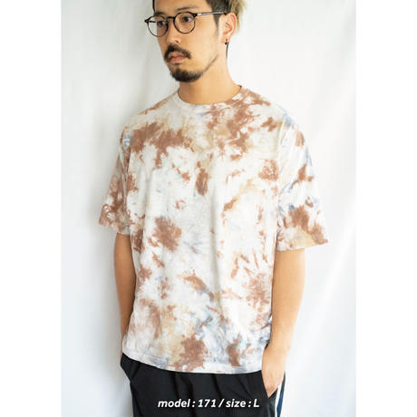 """TEN""タイダイWIDE Tシャツ <013> *ポケット付  size:  L"