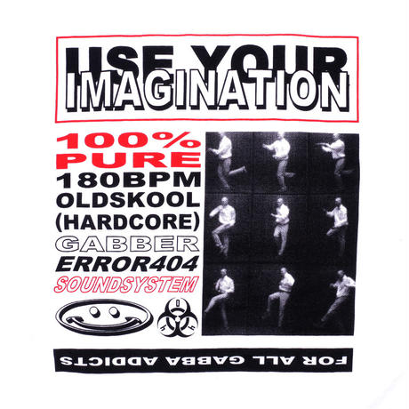 GABBER DANCE IMAGINATION T-SHIRT/ WHITE