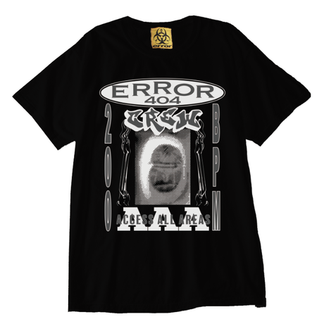 ERROR404 CREW AAA  T-SHIRT/ BLACK