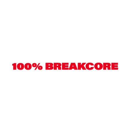 100% BREAKCORE  T-SHIRT/ WHITE