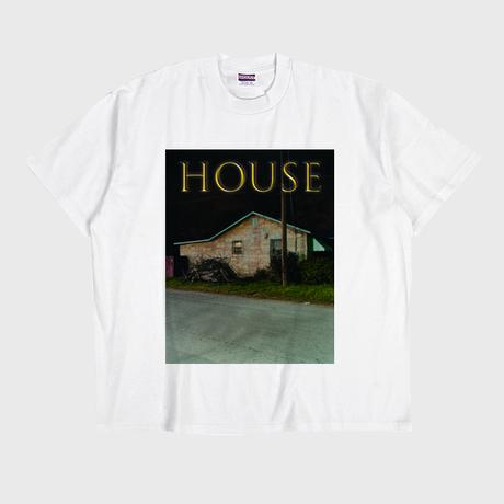 ER-04/ HOUSE (家) T-SHIRT / WHITE