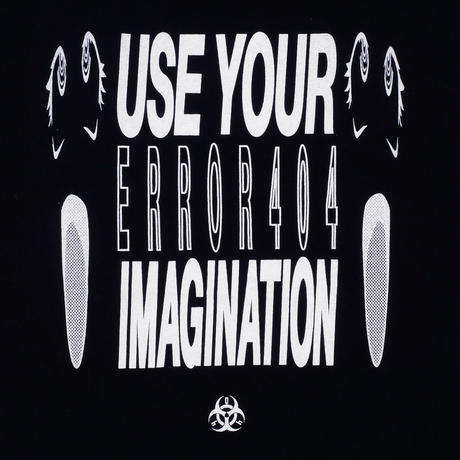 USE YOUR IMAGINATION T-SHIRT/ BLACK