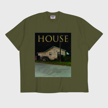 ER-04/ HOUSE (家) T-SHIRT / ARMY GREEN