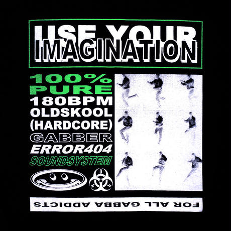 GABBER DANCE IMAGINATION T-SHIRT/ BLACK