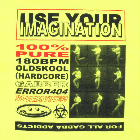 GABBER DANCE IMAGINATION T-SHIRT/ YELLOW