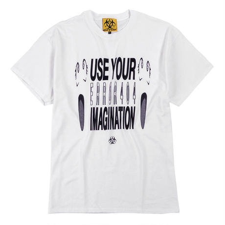 USE YOUR IMAGINATION T-SHIRT/ WHITE