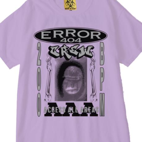 ERROR404 CREW AAA  T-SHIRT/ PURPLE