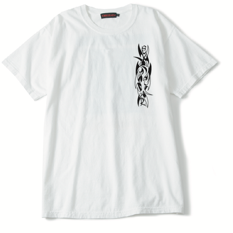 HARDCORE TECHNO REPORT T-SHIRT/ WHITE