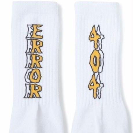 ERROR404 LOGO SOCKS【即納】