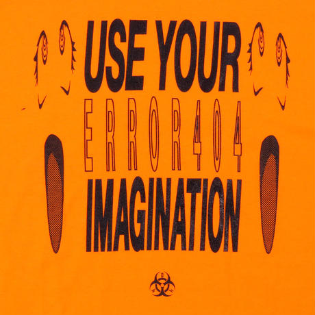 USE YOUR IMAGINATION T-SHIRT/ ORANGE