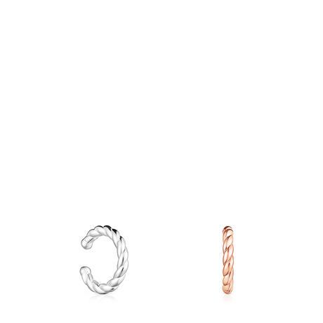 イヤーカフスセット  Braid     ピンクゴールドコーティング シルバー925 2色1セット 【018643500】