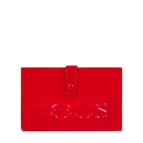 財布  Dorp Logo  2つ折り  M 合成皮革 レッド  【195960499】