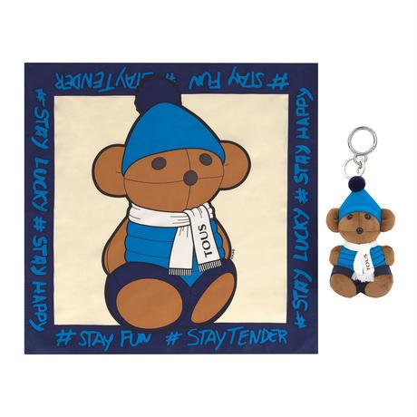 【セット】キーリング・バッグチャーム/スカーフ  100 Bears  Sky    ブルー  【195960517】