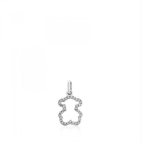 ペンダントSiluetaくま ダイヤモンド / 18金ホワイトゴールド / 11mm(213564040)