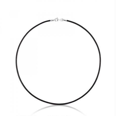 革チョーカーTOUS Chain 黒色牛革 / シルバー / 40cm(011900500)