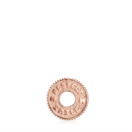 チャーム Medallion Respect & Smile・16mm ピンクゴールドコーティング【918494540】