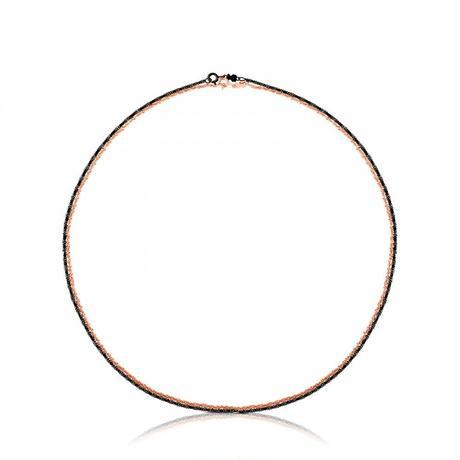 チェーンネックレスTOUS Chains2点セット ピンクゴールドコーティング / ダークシルバー / 45cm /2WAY 組み合わせ自由 (411904010)