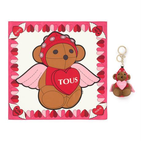 【セット】キーリング・バッグチャーム/スカーフ  100 Bears  Love    ピンク  【195960570】