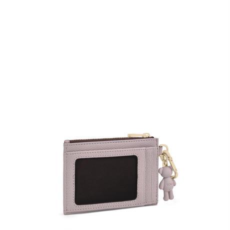カードケース  T POP  くま  コイン・カードケース入れ 合成皮革 パープル  【195960696】