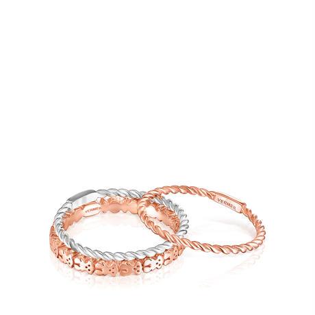 リング  Ring Mix  3連セット   ピンクゴールドコーティング シルバー925 12号【018165540