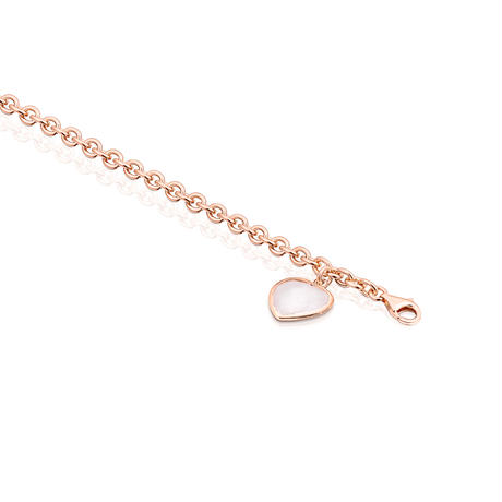 ブレスレット  Sweet Dolls Gems  ハート  18cm ピンクゴールドコーティング ピンククォーツ  【017271510】