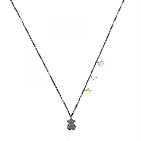 ネックレス Sweet Dollsくま・2モチーフ パール / ブラックシルバー/ ゴールドコーティング / 90cm(818022520)