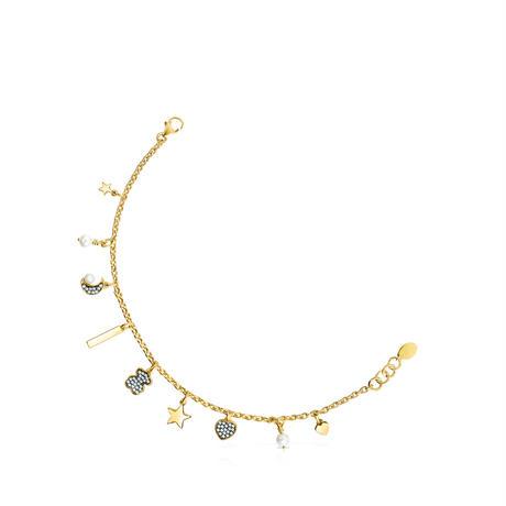 ブレスレットNocturne ダイヤモンド・パール・ゴールドコーティング(918441600)