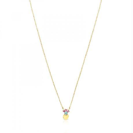 ネックレス Real Sisyハート ジェムストーン / 18金ゴールド / 45cm(812452050)
